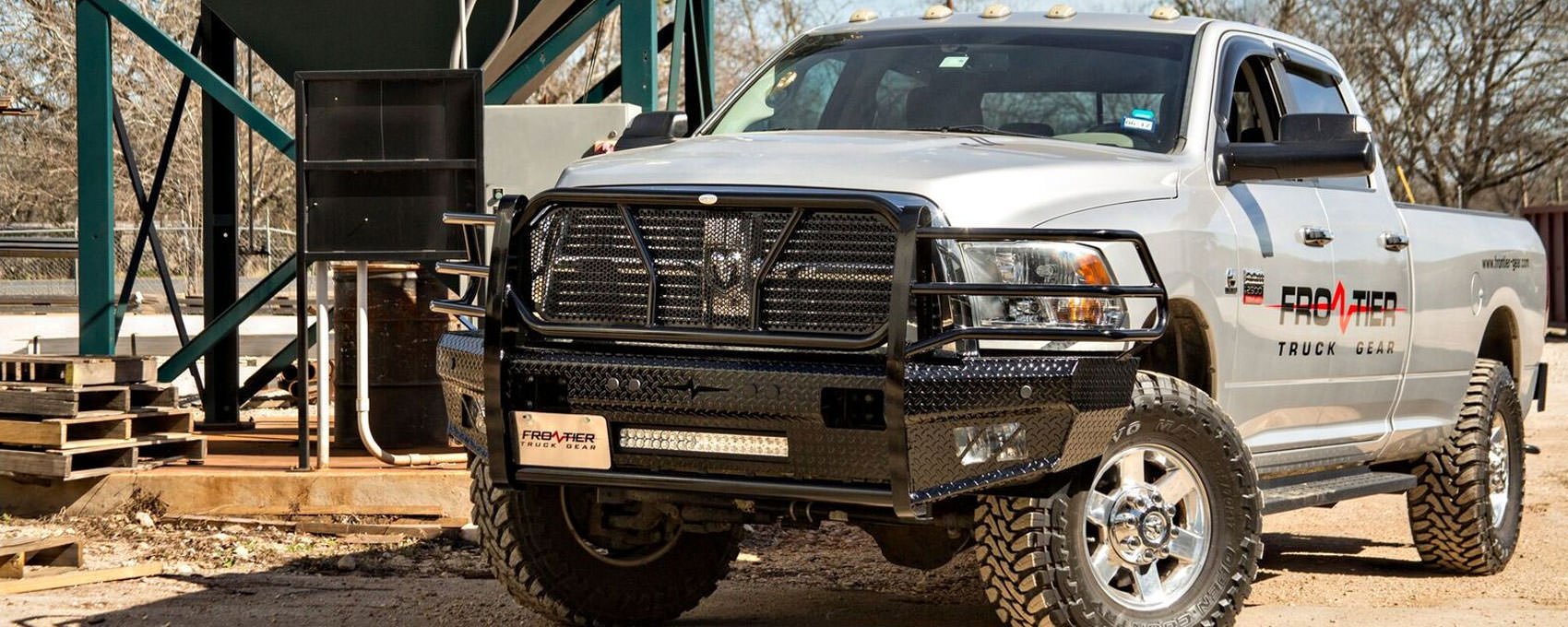 Frontier Gear New Front Bumper Replacement on Dodge Ram Rear Bumper Guards