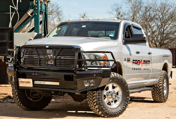 '10-'17 Dodge 2500 - 3500 | Front Bumper Replacements w/ Light Bar Option | Frontier Truck ...